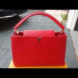 Louis Vuitton authentic red handbag